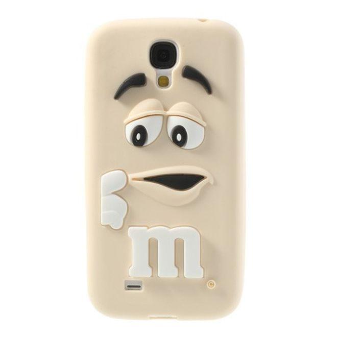 """Samsung Galaxy S4 Silikon Case mit M&M""""s Figur - beige"""