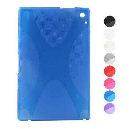 Nokia Lumia 2520 Elastisches Plastik Case X-Shape - transparent