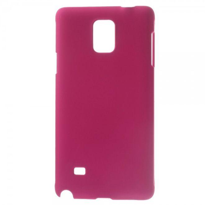 Samsung Galaxy Note 4 Gummiertes Hart Plastik Case - rosa