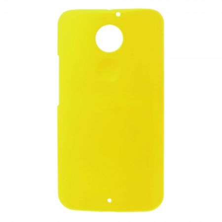 Motorola Moto X (2 Gen) Gummiertes Hart Plastik Case - gelb