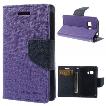 Samsung Galaxy Young 2 Mercury Leder Case mit Standfunktion - purpur