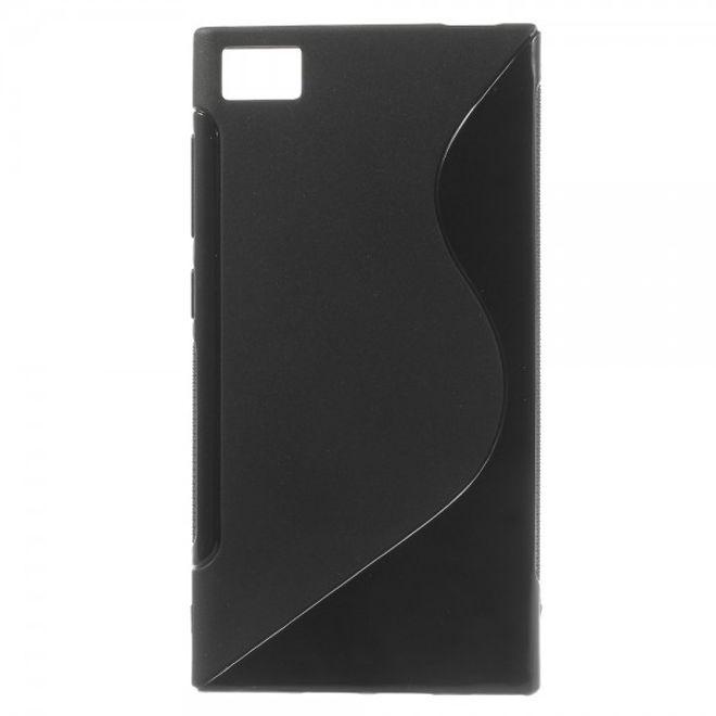 Xiaomi Mi3 Elastisches Plastik Case S-Line - schwarz
