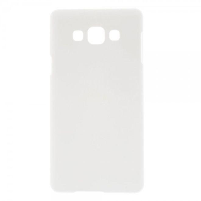 Samsung Galaxy A7 Gummiertes Hart Plastik Case - weiss