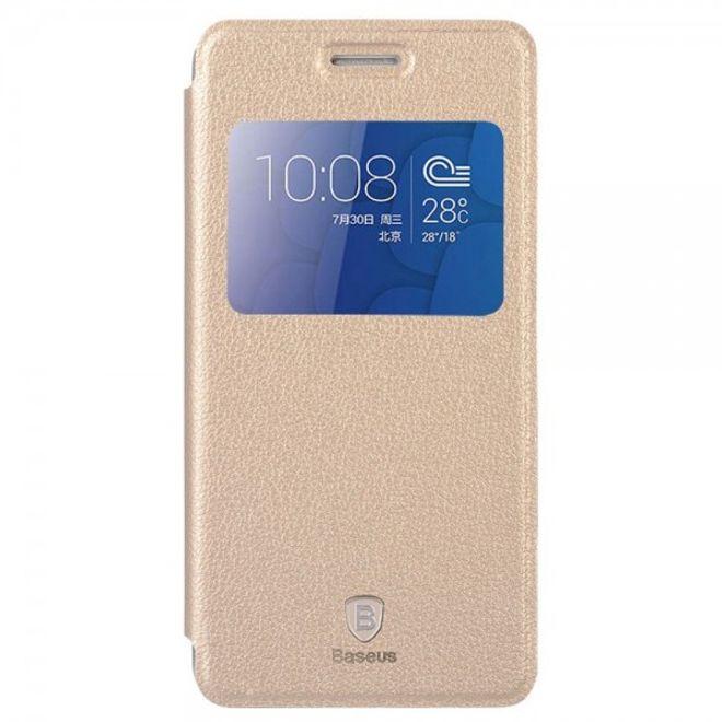 Baseus Huawei Honor 6 Plus Baseus Smart Leder Case mit Standfunktion - champagnerfarben