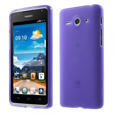 Huawei Ascend Y530 Elastisches, mattes Plastik Case - purpur