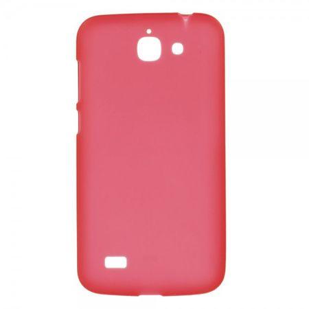Huawei Ascend G730 Elastisches, mattes Plastik Case - rot