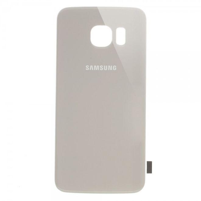 Samsung Galaxy S6 Edge OEM Batterieabdichtung/Backcover Ersatzteil - silber