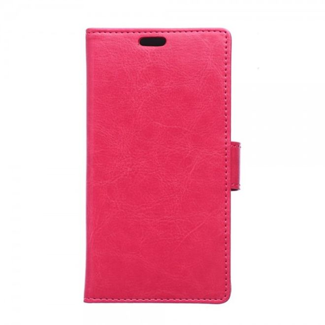 Sony Xperia M4 Aqua Schickes Crazy Horse Leder Case - rosa