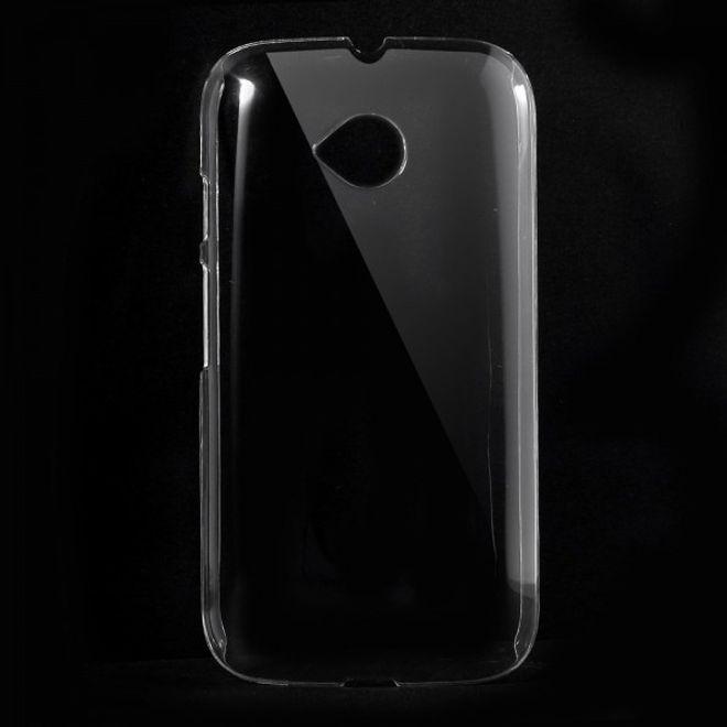 Motorola Moto E2 (2015 Edition) Kristallklares Hart Plastik Case - transparent