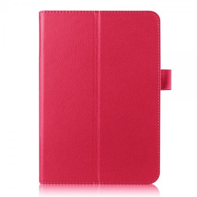 Samsung Galaxy Tab S2 8.0 Schickes, faltbares Leder Smart Case mit Litchitextur - rosa