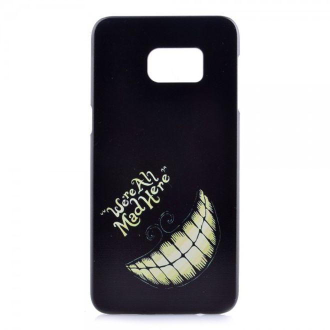 Samsung Galaxy S6 Edge Plus Hart Plastik Case mit witzigem Grinsen und Schriftzug