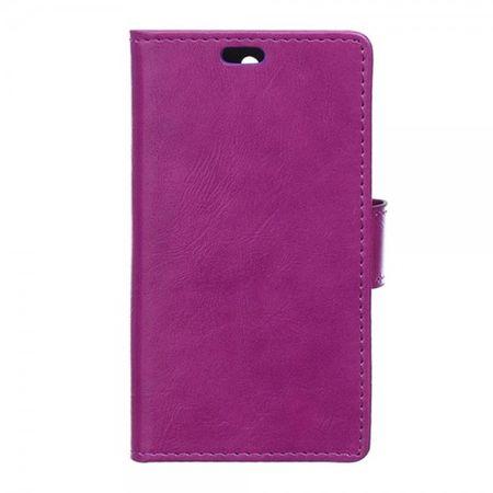 Samsung Galaxy Trend 2 Lite Crazy Horse Leder Case - purpur