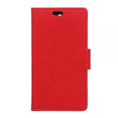 HTC Desire 526/526G Leder Flip Case mit Standfunktion - rot