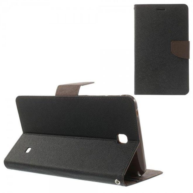 Goospery Samsung Galaxy Tab 4 7.0 (T230/T231/T235) Mercury Goospery Modische Leder Case Hülle - schwarz/braun