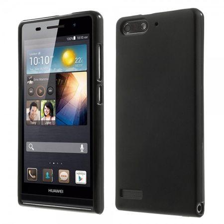 Huawei Ascend G6 Elastische, matte Plastik Cover Hülle - schwarz