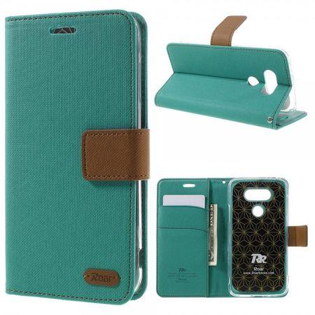 LG G5 Leder Case Hülle mit Köpermuster von Roar Korea - grün