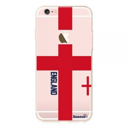iPhone 6/6S Baseus Flag Series Elastische Plastik Cover Hülle mit England Flagge