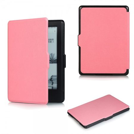 Amazon All-New Kindle Schicke Leder Smart Case Hülle mit Kreuzmuster - pink