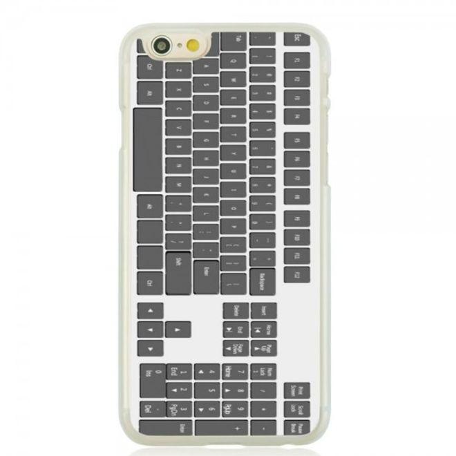 iPhone 6/6S Hart Plastik Case Handyhülle mit schwarzer Tastatur