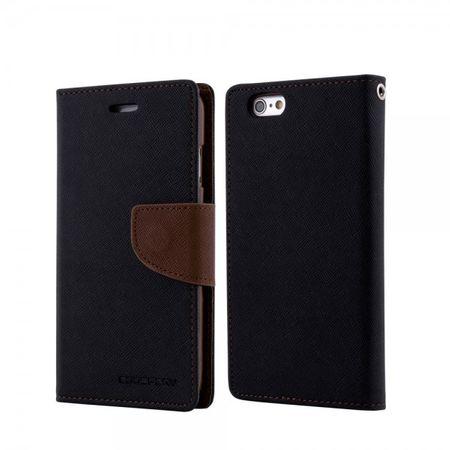 Mercury Goospery - Cover für Samsung Galaxy Tab 4 8.0 - Hülle aus Leder - Fancy Diary Series - schwarz/braun