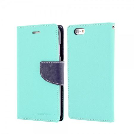 Mercury Goospery - Cover für Samsung Galaxy Tab 4 8.0 - Hülle aus Leder - Fancy Diary Series - mint/navy