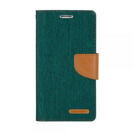 Mercury Goospery - Flipcase Hülle für iPad Mini 1/2/3 - Hülle aus Leder/Stoff - Canvas Diary Series - grün/camel