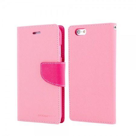 Mercury Goospery - Cover für iPad Air - Hülle aus Leder - Fancy Diary Series - pink/rosa