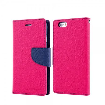 Mercury Goospery - Handy Cover für Samsung Galaxy Note 1 - Handyhülle aus Leder - Fancy Diary Series - rosa/navy