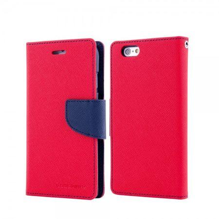 Mercury Goospery - Handy Cover für Samsung Galaxy Note 1 - Handyhülle aus Leder - Fancy Diary Series - rot/navy