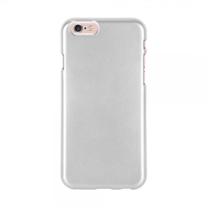 Goospery Mercury Goospery - Handy Schutzhülle für Samsung Galaxy S6 Edge - Cover aus elastischem Gummi - i Jelly Series - silber