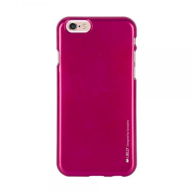 Goospery Mercury Goospery - Handy Schutzhülle für Samsung Galaxy S6 Edge - Cover aus elastischem Gummi - i Jelly Series - pink
