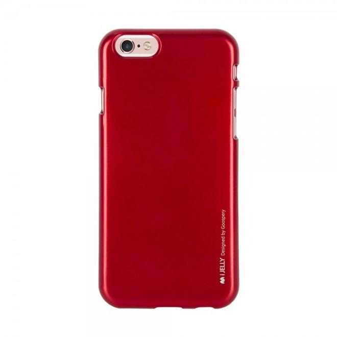 Goospery Mercury Goospery - Handy Schutzhülle für Samsung Galaxy S6 Edge - Cover aus elastischem Gummi - i Jelly Series - rot