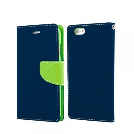 Mercury Goospery - Handy Cover für Samsung Galaxy Note 3 Lite/Neo - Handyhülle aus Leder - Fancy Diary Series - navy/lime