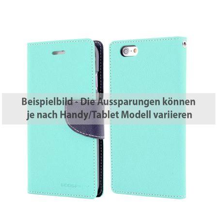 Mercury Goospery - Cover für Samsung Galaxy Tab S2 8.0 - Hülle aus Leder - Fancy Diary Series - mint/navy