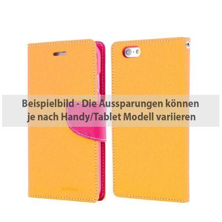Mercury Goospery - Cover für iPad 2/3/4 - Hülle aus Leder - Fancy Diary Series - gelb/rosa