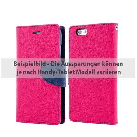 Mercury Goospery - Cover für Samsung Galaxy Tab S2 9.7 - Hülle aus Leder - Fancy Diary Series - rosa/navy