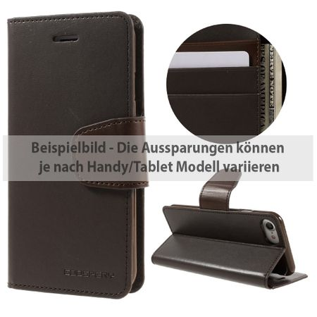 Mercury Goospery - Sony Xperia Z3 Handyhülle - Case aus Leder - Sonata Diary Series - braun