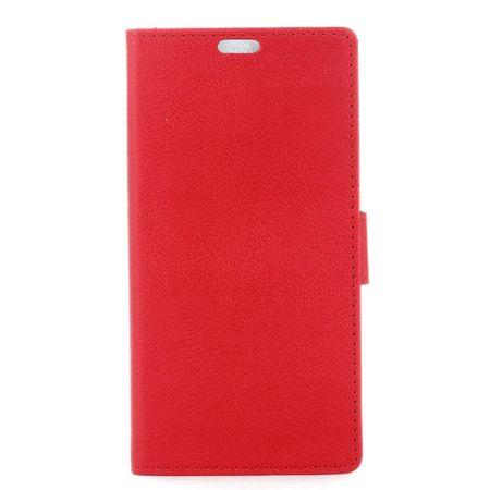 Hülle für LG Q6 / Q6 Plus - Case aus Leder - mit Standfunktion - rot