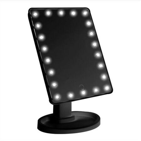 LED Schminkspiegel mit Licht - schwarz