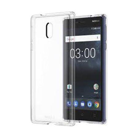 Nokia - Original Nokia 3 Handyhülle - Hybrid Cover aus TPU/PC - transparent
