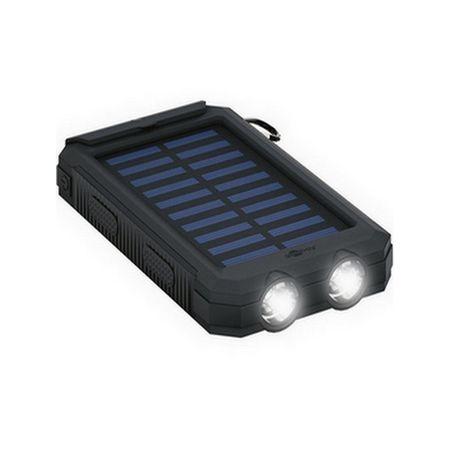 Goobay - Outdoor Power Bank - 8000 mAh - externer Akku mit Solarpanel - schwarz