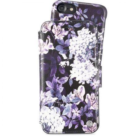 Holdit - iPhone 8 / 7 / 6S / 6 Hülle - Designer Case Stockholm Purple mist - mit Magnet und abnehmbarem Case - mehrfarbig