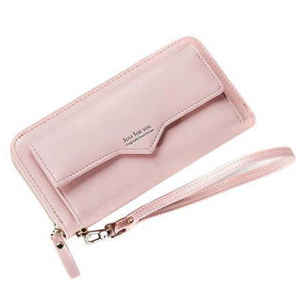 Handy Clutch Portemonnaie mit Extrafach - Hellrosa