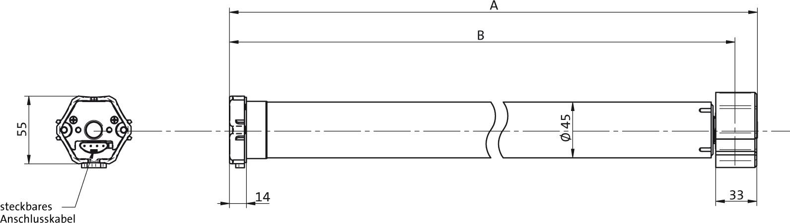 elero suntop technische zeichnung