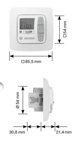 becker tc52 maße