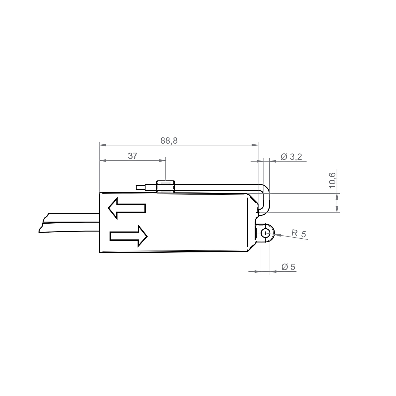 Elero Combio-868 RM/STAK3 Technische Zeichnung