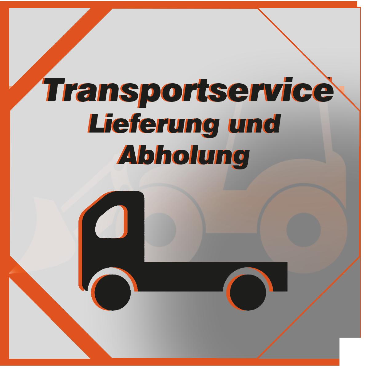 Transportservice für Kommunal, Garten Bau und Forsttechnik. Lieferung und Abholung vor Ort
