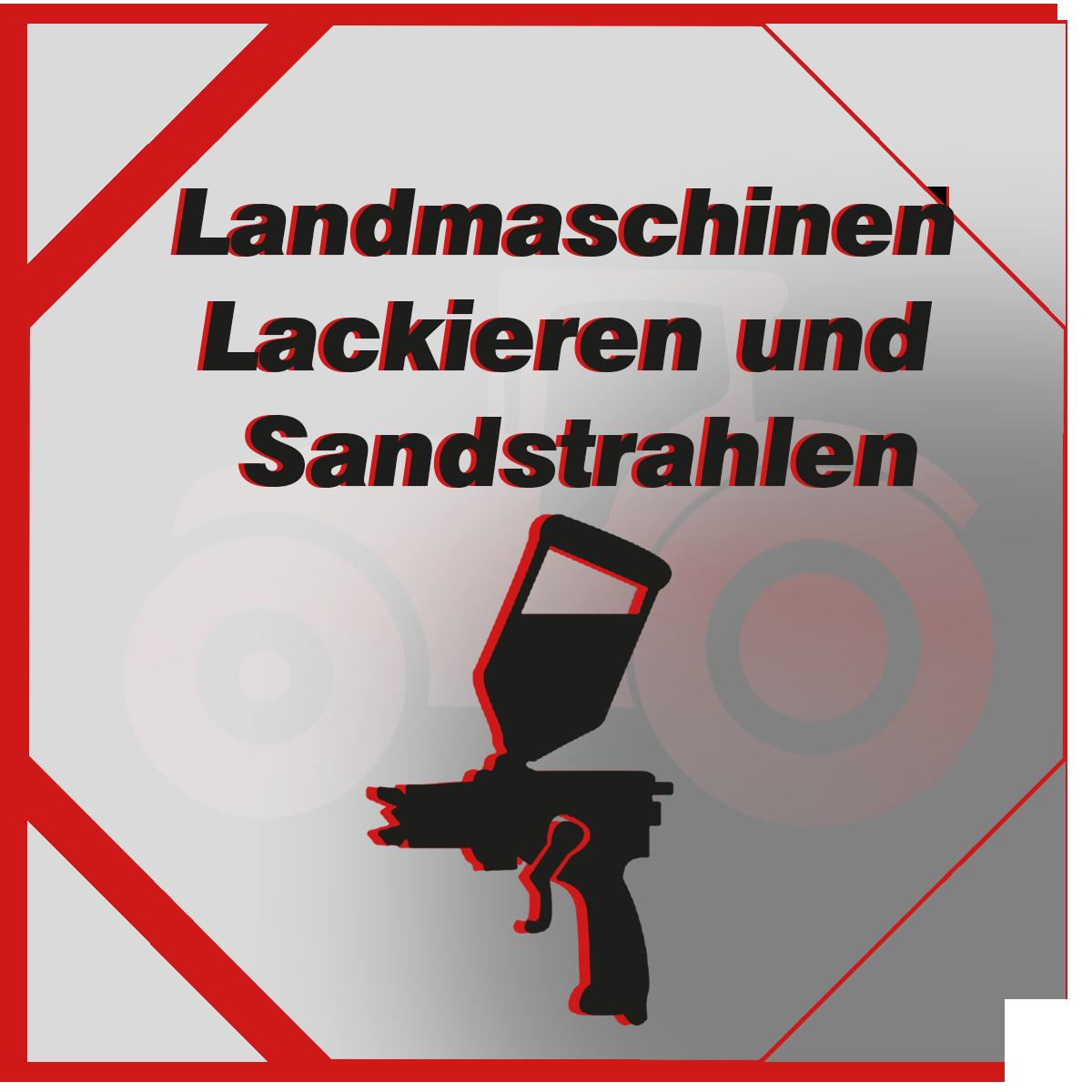 Lackierung + Sandstrahlen
