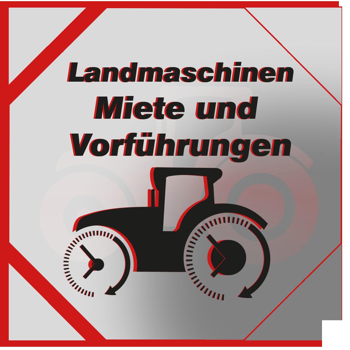 Miete und Vorführungen von Landmaschinen