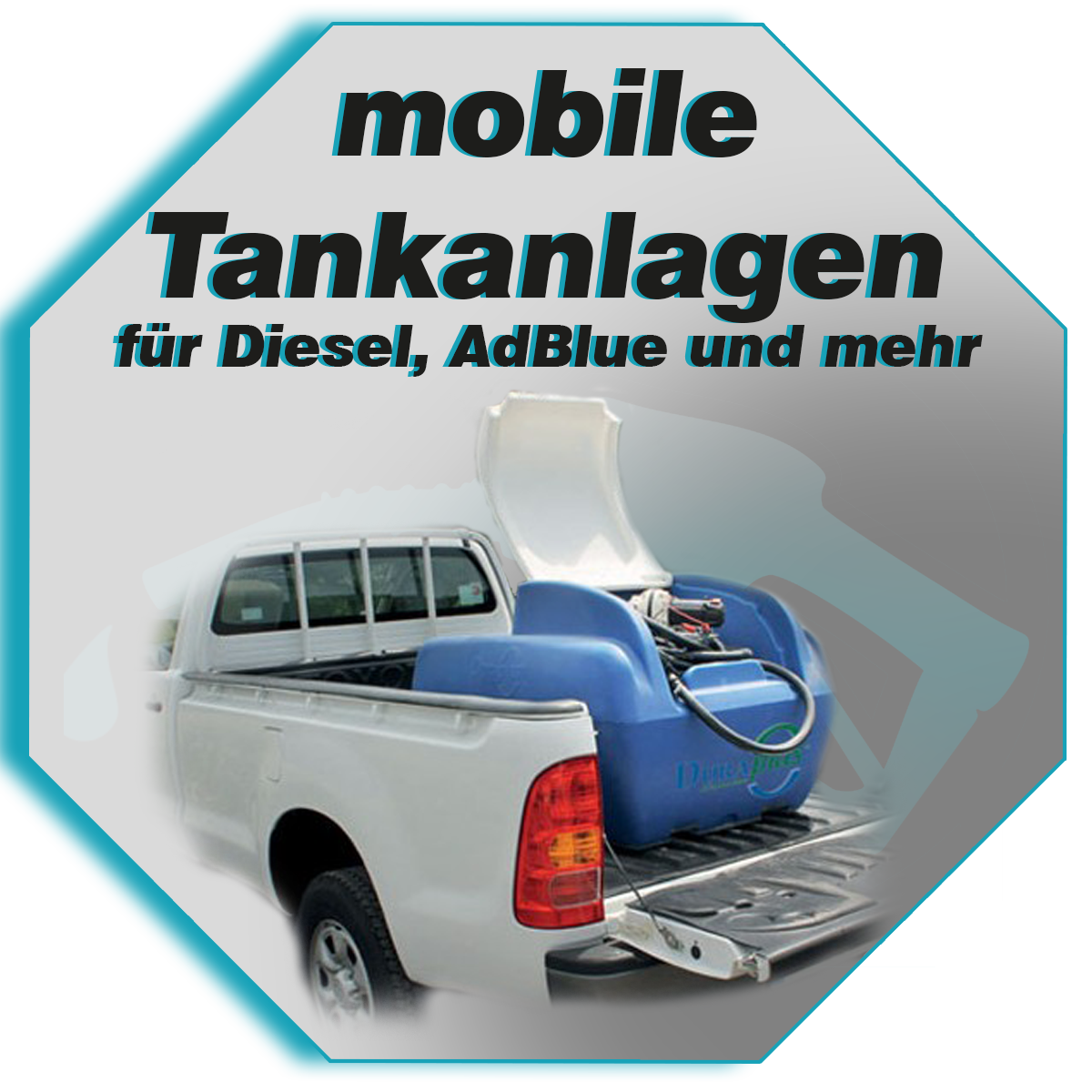 Mobile Tankanlagen und Tanks. Für Diese, Benzin, Wasser, Flüssigdünger und mehr